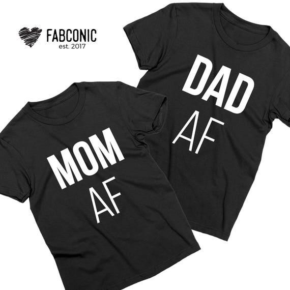 e6f8a22c Mom AF Dad AF Shirts Mom Dad Shirts Matching Mom Dad Shirts | Etsy