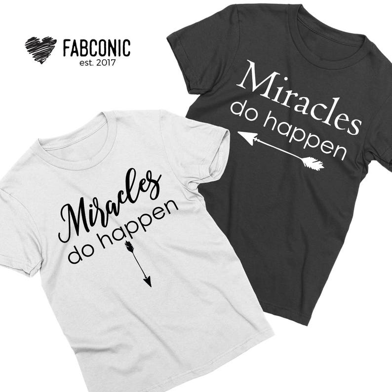 32224645cf835 Miracles Do Happen Pregnancy Announcement Maternity shirts | Etsy