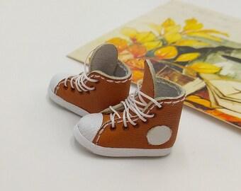 Brown Sport Style Shoes  For Doll Blythe / Barbie / Momoko / Licca /  DAL / Jenny / Latti _Y / Pullip