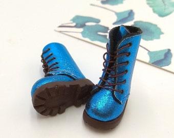 Blue Christmas Handmade Shoes  For Doll Blythe / Barbie / Momoko / Licca / Obitsu / DAL / Jenny / Latti _Y / Pullip