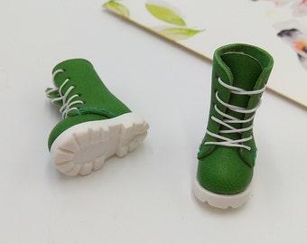Green Handmade Shoes  For Doll Blythe / Barbie / Momoko / Licca /  DAL / Jenny / Latti _Y / Pullip