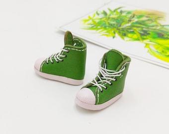 Green Sport Style Shoes  For Doll Blythe / Barbie / Momoko / Licca /  DAL / Jenny / Latti _Y / Pullip