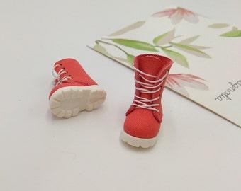 Coral Handmade Shoes  For Doll Blythe / Barbie / Momoko / Licca /  DAL / Jenny / Latti _Y / Pullip