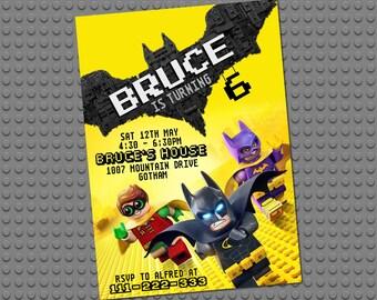 Lego Batman Invitation Birthday Party Invite Printables Free Thank You Card