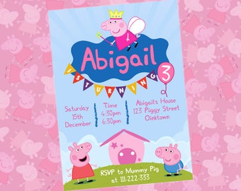 Peppa Pig Invitation Birthday Party Invite Printables Free Thank You Card