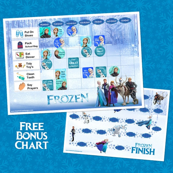 Frozen Reward Chart Printable