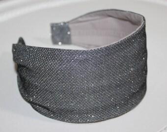 Istruzione archetto brillantezza elegante copricapo archetto metallico  grigio carino Hairband per ragazza comodi copricapo fascia Festival lucido  turbante 82bbed774e4b