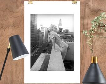 "Marilyn Monroe Black & White Print - ""Marilyn Monroe in New York. 1955"" at JUNIQE - Artist: Vintage Photography Archive"
