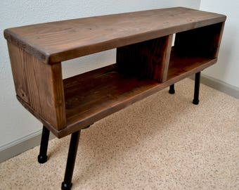 Industrial TV Stand, Media Center, Media Console, Industrial Pipe, Rustic, Urban, Entertainment Center