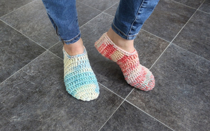 f748de83c4e68 Adult slippers Chunky slippers Crochet booties Crochet slippers Crocheted  slippers Girlfriends slippers Girls slippers Knitted slippers