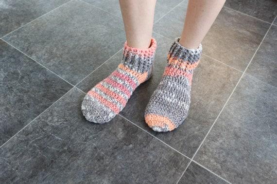 Home Socken Indoor Hausschuhe Casual Stricksocken Damen Hausschuhe Schuhe Cotton mischen Damen Booties Crochet Hausschuhe Slipper Socken