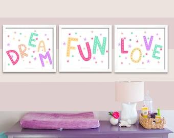Girls Room Wall Art Etsy