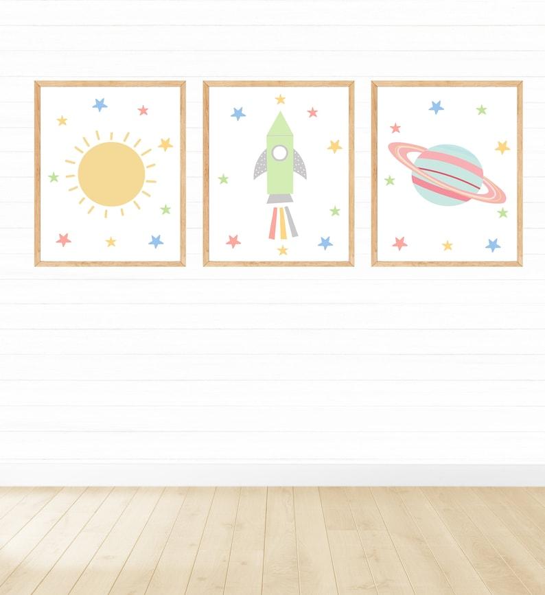 Bedroom Decor Digital Download Outer Space Decor Printable Wall Art Printable Space Wall Art for Girls Nursery Decor 8x10 11x14 16x20
