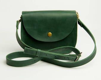 0a4b62e2938d Green Shoulder Bag Natural Leather Bag Crossbody Bag Shoulder Boho Bag  Green Leather Bag Shoulder Bag Shoulder Purse Mini purse