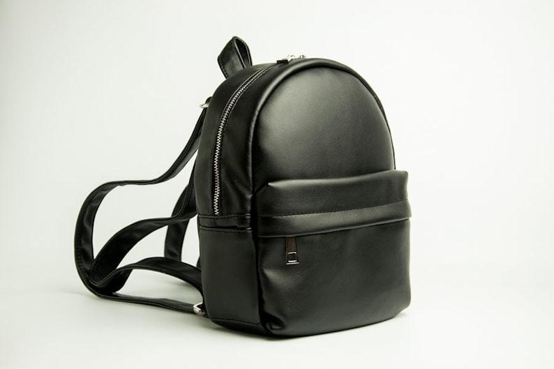 47024a94500f Eco leather backpack Mini backpack Black backpack Vegan