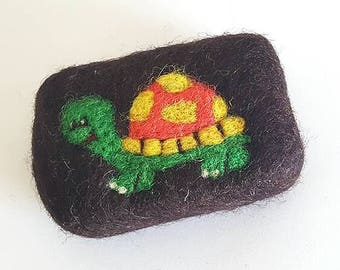 Wool felted soap - sponge