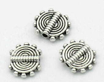 5 beads spacer Spiral 10x8.5mm