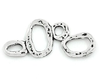 Connector charm ring/circle irregular creative jewelry 3.7 cm x 1.6 cm