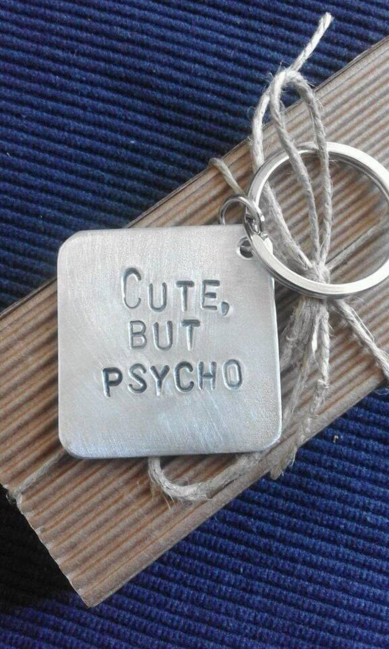 Cute But Psycho Free Shipping Couple Gift Handmade Valentines Etsy