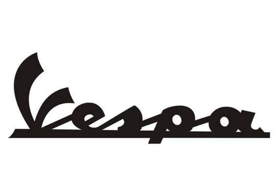 vespa logo vinyl decal x 2 mod scooterist rh etsy com