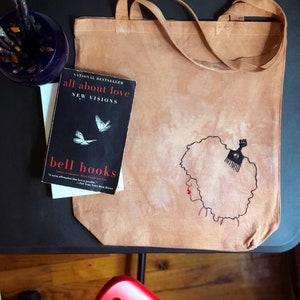 Peace /& Hair Grease All Over Print Tote Bag Love