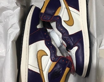 e72a1578ba8 Nike air jordan 1 SB lakers bulls