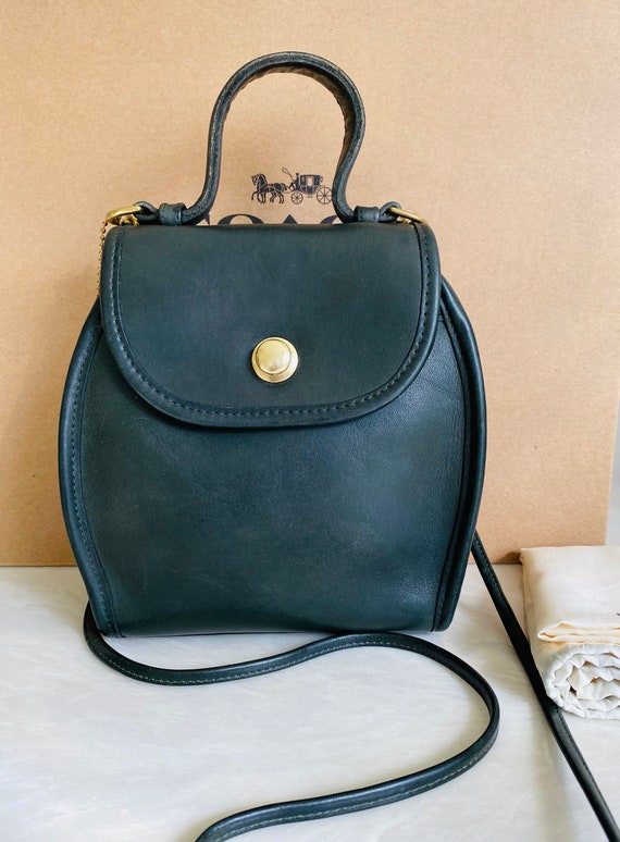 Coach Vintage Green Derby Satchel Crossbody Bag