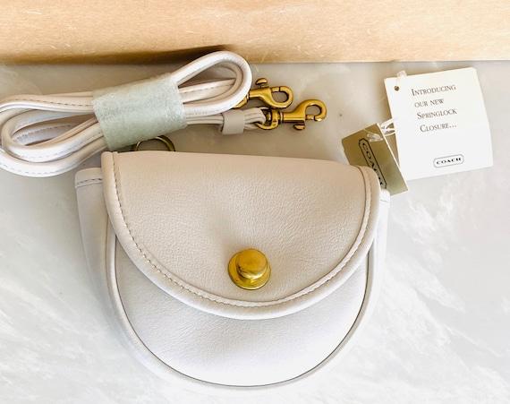 NWT Coach Vintage White Leather Mini Crossbody Con