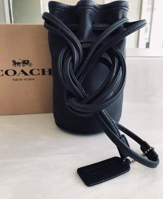 Coach Vintage Littleton Black Leather Drawstring M