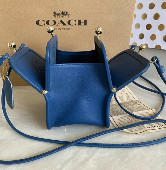 Coach Vintage Bonnie Cashin Blue Chunky Double Kis