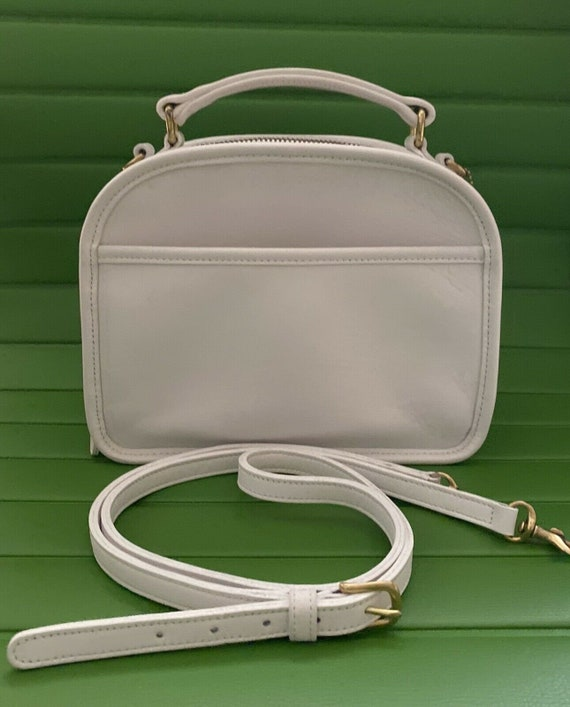 Coach Vintage White White Leather Lunch Box Satche