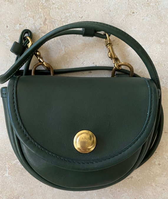 Coach Vintage Green Mini Cross body Belt Bag