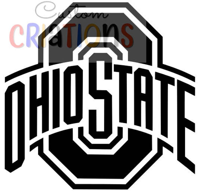 Set of 4 Ohio State Buckeyes logo OSU brutus college football SVG cricut  silheoutte cameo cutting file vinyl