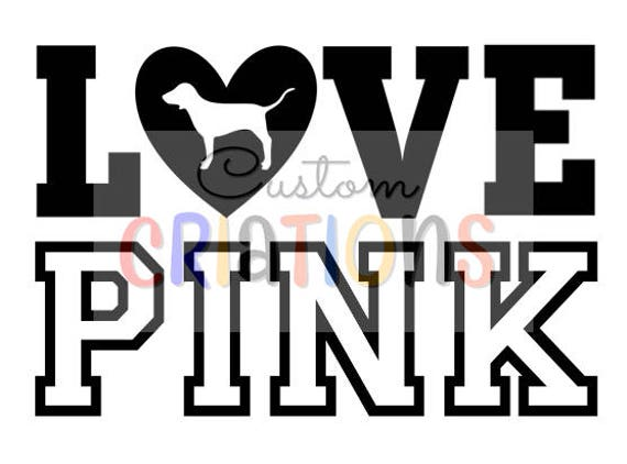 8bc04893d00 Love Pink VS Victoria Secret logo dog SVG cricut silhouette