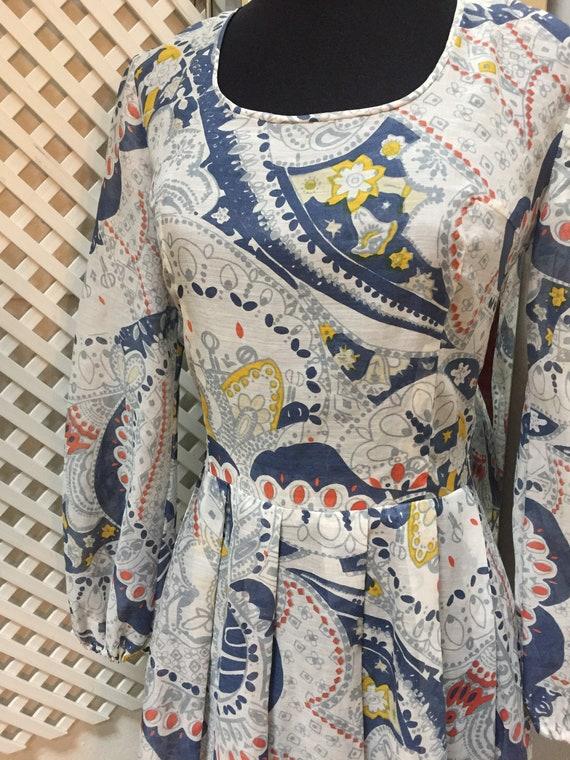 Vintage 60s Psych Dress