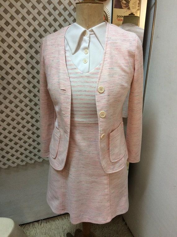 Vintage 60s Mod Soft Pink Suit