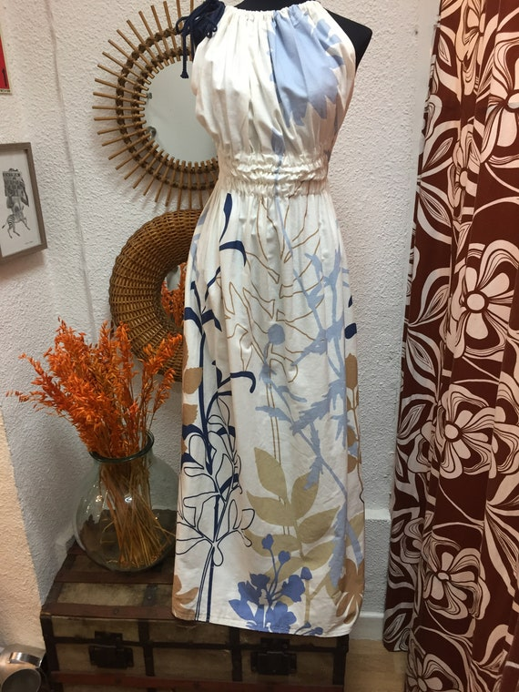 Vintage 90s White Maxi Dress  Does 70s Style