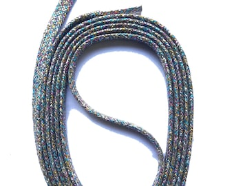 FLAX GRANDSON green GLITTER SNORS approx laces 5 mm 130 cm