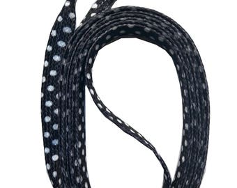 SNORS - lace - printed flax GRANDSON points black 140 cm, approx. 10 mm