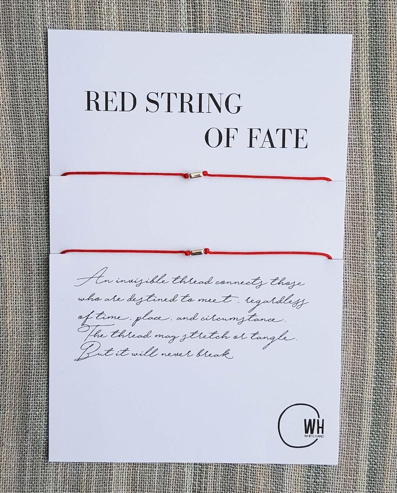 Matching Bracelet Long Lasting Bracelet Bracelets for Couple -Gift Jewelry Couple Bracelet Red String Red String of Fate Bracelets