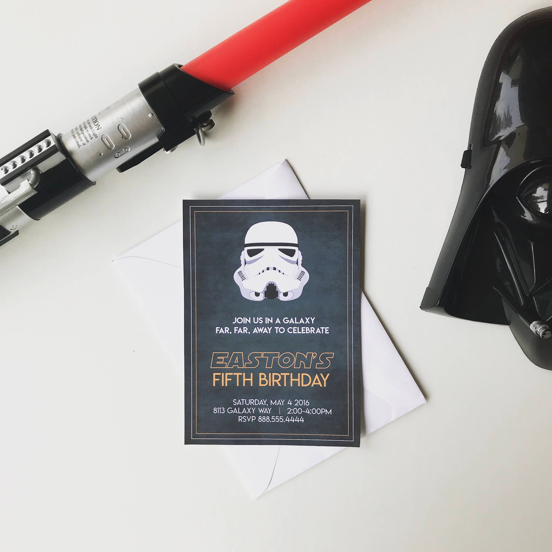 Star Wars Birthday Party Star Wars Print Star Wars