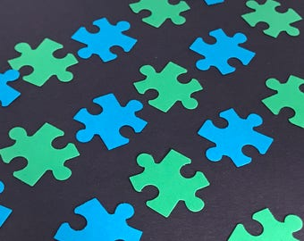 Neurofibromatosis Type 1 and 2 Awareness Table Confetti Jigsaw Puzzle Pieces