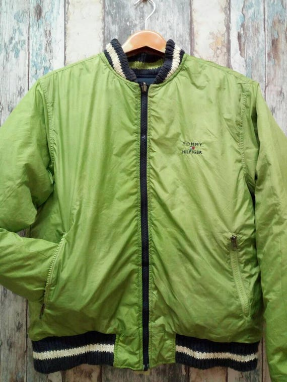 0b03b7d70629a Tommy Hilfiger Insulated Down Coat Jacket Riversible Two Side Green/Blue