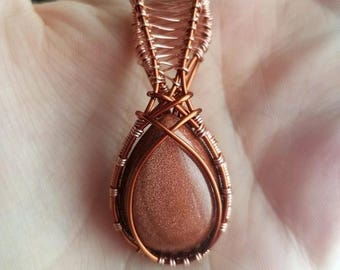 Goldstone in Copper and Bronze