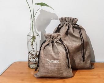 Customized Drawstring Pouch Hikaron Canvas Cloth; Premium Packaging