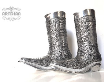 Customized Engraved Aluminum Boots