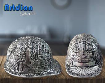 Custom Order Engraved Aluminum Hard Hat