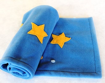 Cover of soft fleece with starry sky