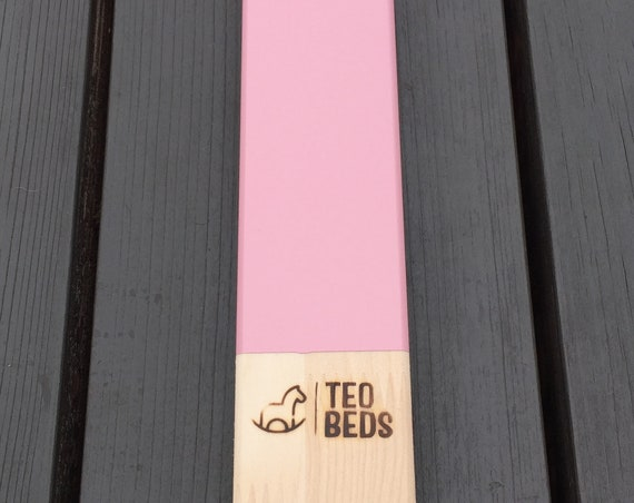 Durable PAINTING - adding PINK - Kiss Kiss paint to your wood house bed, toddler bed order.