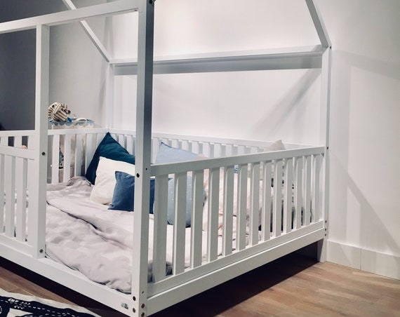 PAINTING - adding WHITE paint to your wood house bed, toddler bed order.